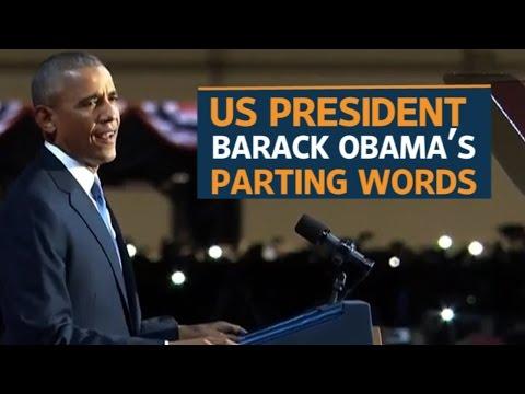 US President Barack Obama bids goodbye as 44th US President