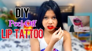 DIY Peel Off Lip Tattoo | DIY Peel Off Lip Tint | Peel Off Makeup