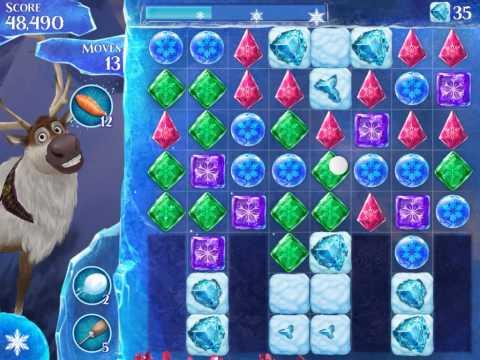 Frozen Free Fall Level 184 Live Action Play Walkthrough