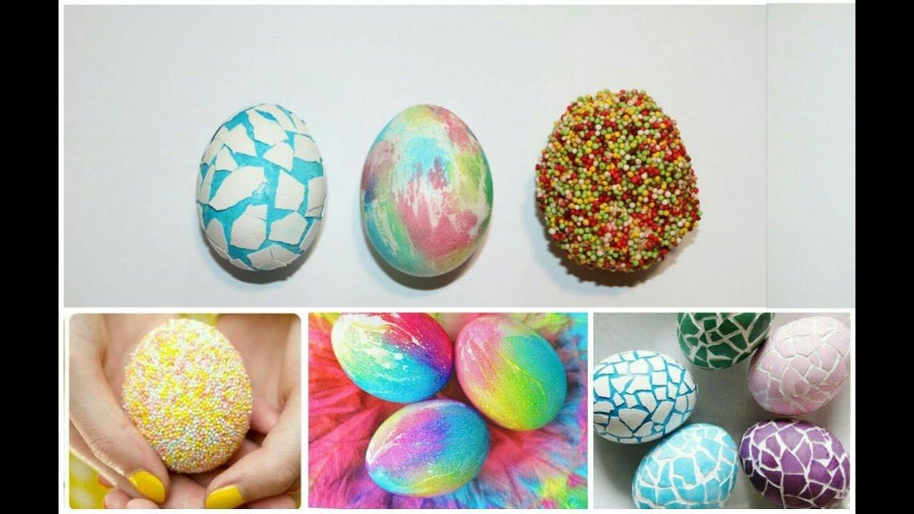 Пасхальные яйца покраска своими руками 24