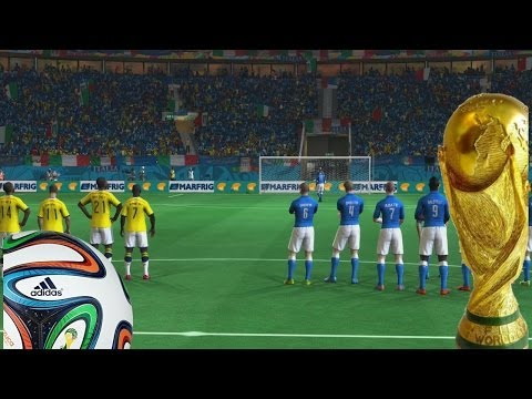 2014 Fifa World Cup - Octavos de Final,Italia Vs Colombia, con SUERTE!!! Gameplay Xbox 360