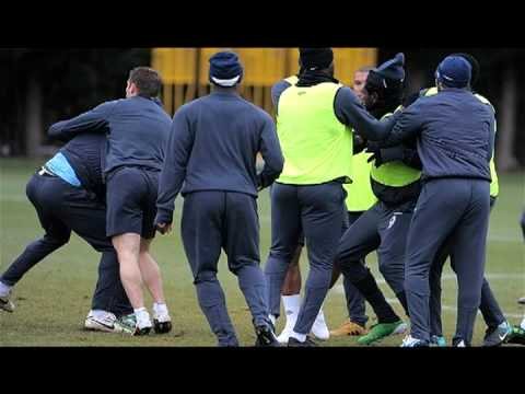 Emmanuel Adebayor  Vs Kolo Toure Fight At Training Ground!