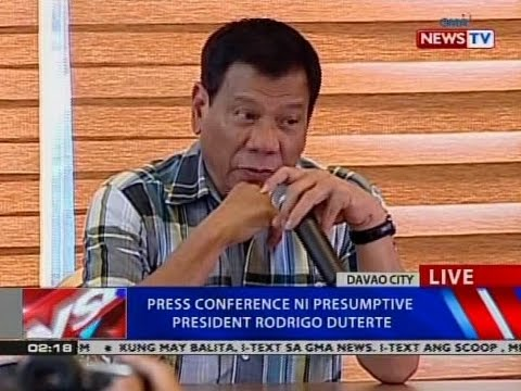 NTVL: Press conference ni Presumptive President Rodrigo Duterte