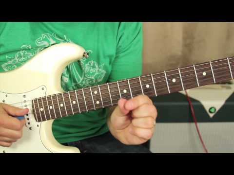 0 Blues Guitar Lessons   Minor Pentatonic Scale Lick   String Bends, Double Stop Bends