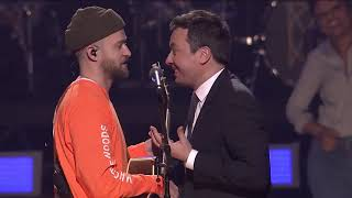 Download Lagu Jimmy Fallon and Justin Timberlake - The Barry Gibb Talk Show Theme Song (Behind The Scene) Gratis STAFABAND