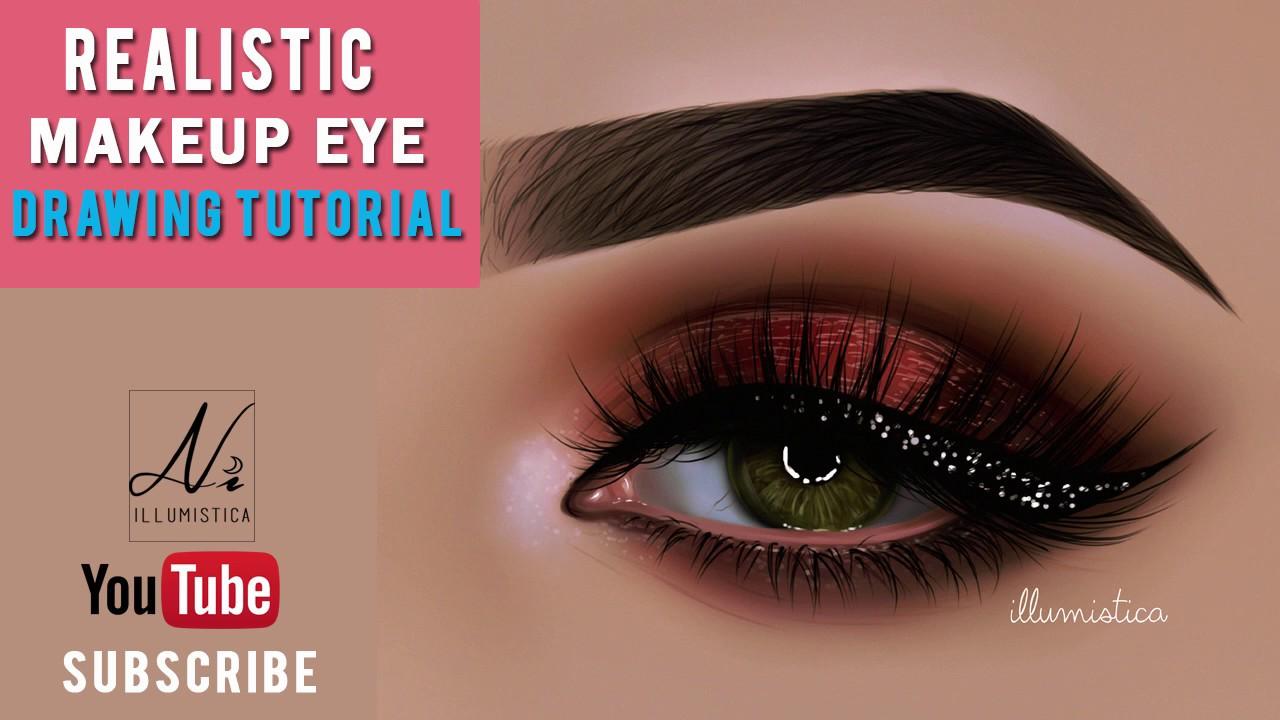 Eye makeup drawing