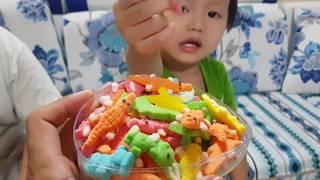Tin và anh Hai ăn thử kẹo dẻo Gummy - Kids Toy Media