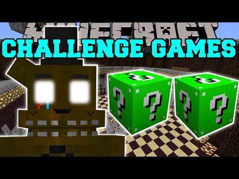 Minecraft: PHANTOM FREDDY CHALLENGE GAMES - Lucky Block Mod - Modded Mini-Game