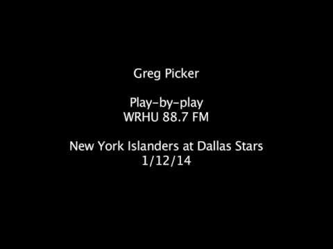 Greg Picker Radio Play-by-Play, New York Islanders at Dallas Stars