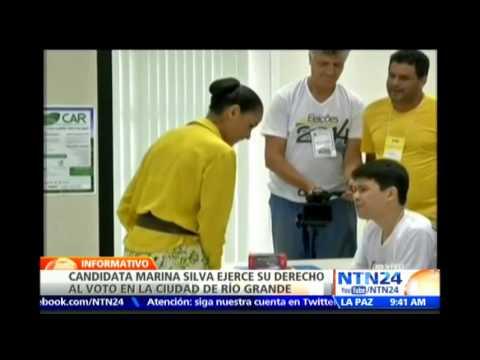 Candidata presidencial Marina Silva ejerció su derecho al voto en la ciudad de Río Grande