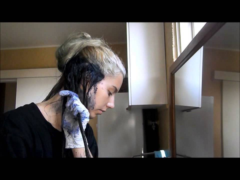 Dyeing The Under Layer Of My Hair Black Youtube