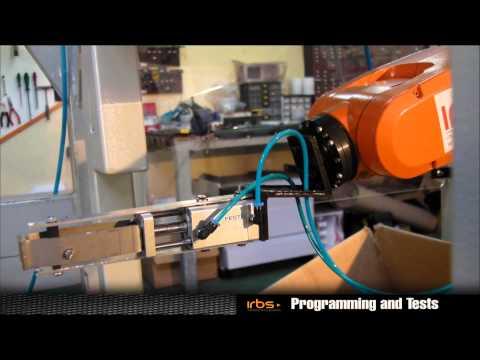 IRB Solutions  – Robotic Material Handling Cell – Plastics