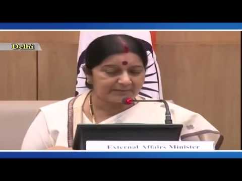 First Media Briefing by Smt. Sushma Swaraj (External Affairs Minister) : 08th September 2014