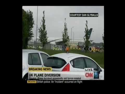 Pakistan International Airlines Plane Escorted By British Fighter Jets - 24 May 2013