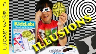 This ILLUSION SCIENCE Will Trick Your Eyes! How Illusions Work? Tricks Revealed & Toys Review
