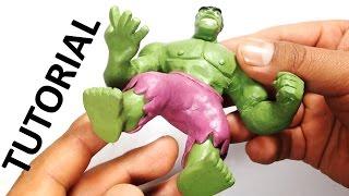 Como hacer a Hulk de plastilina / How to make a Hulk with clay
