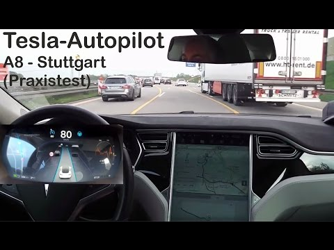 Tesla Model S - Autopilot in Stuttgart - (mit Fahrerdisplay)