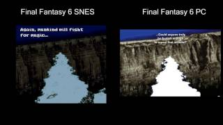 Final Fantasy 6 SNES vs PC (steam), side by side comparison