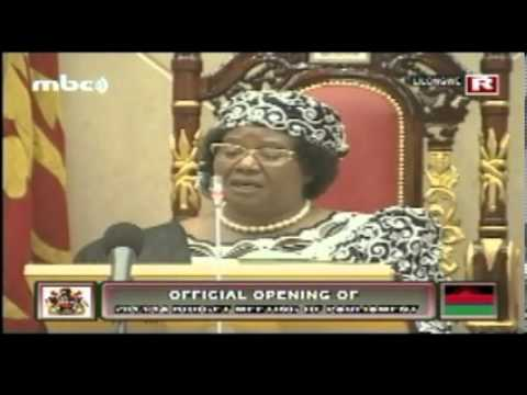 Joyce Banda at Official Opening of 2013/14 Budget Session of Parliament, May 2013