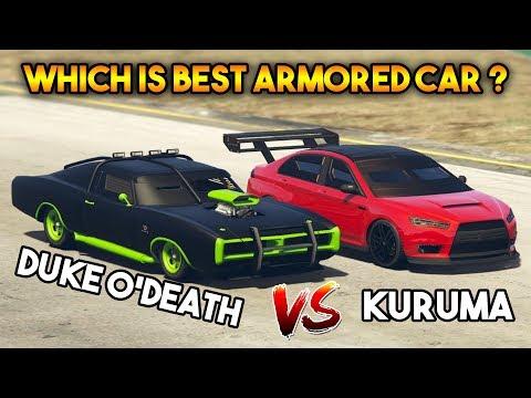GTA 5 ONLINE : KURUMA VS DUKE O'DEATH ( WHICH IS FASTEST ARMORED CAR? )