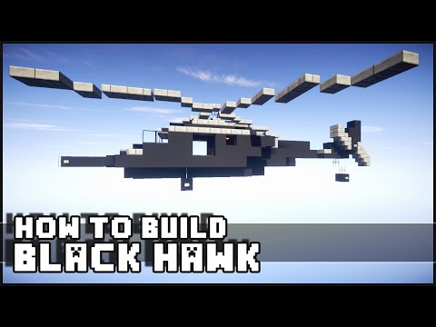 ► Minecraft : How to Make - Black Hawk Helicopter