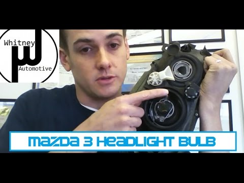 Mazda3 Headlight Bulb Replacement. how to prevent repeat failure. Getting the bulb in and out!