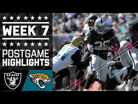 Raiders Vs Jaguars Nfl Week 7 Game Highlights