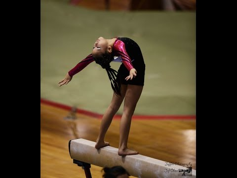 8th National Artistic Gymnastic WAG Level 2 PT 3 Balance Beam by Jeffini Photography
