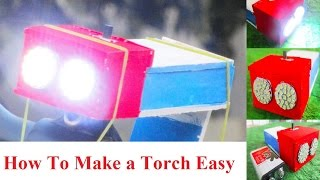how To Make a flashlight - Easy - How to make a Torch Light For cycle