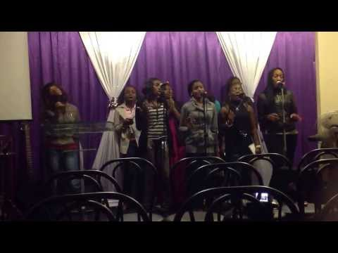 Rehearsing Nathaniel Bassey's Imela ( Voices Of Possibilities.) video