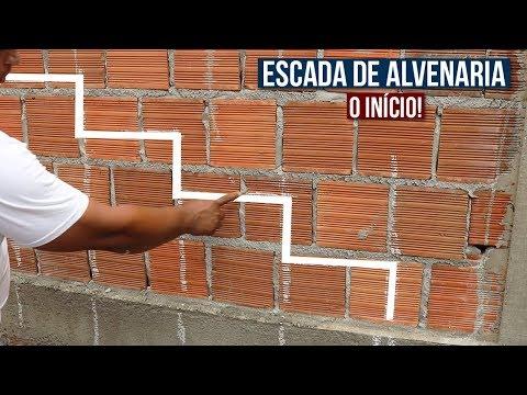 ESCADA DE ALVENARIA PASSO A PASSO - (Muito Fácil!) - VÍDEO 1
