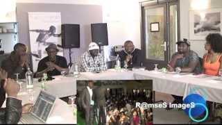 Ndédi Eyango -Fingon Tralala- Princess- Bridget -Coco Argentée  en Conference de Presse