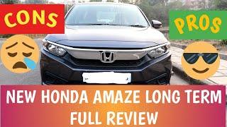 Honda Amaze Long Term Review..PROS and CONS