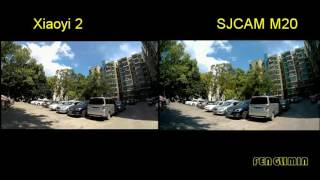 XIAOYI 2 VS SJCAM M20 Outdoor Sunlight Comparison