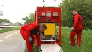 Full Hytrans HFS 2013 mobile fire system full deployment with the HS150