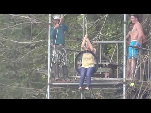 Niki & Nesha jump in the Lake