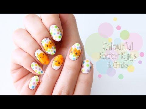 Super Easy Easter Egg Nail Art