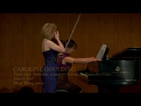 2011 Avery Fisher Career Grant recipient Caroline Goulding, violinist