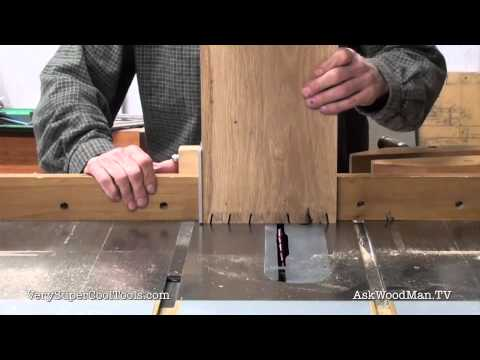 882. DIY Welding Cart – Cutting The Dovetail Tails On The Table Saw