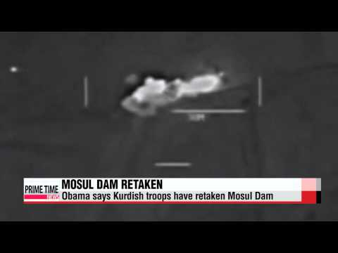 Kurdish forces recapture strategic Mosul Dam from Islamic militants   이라크•쿠르드군,