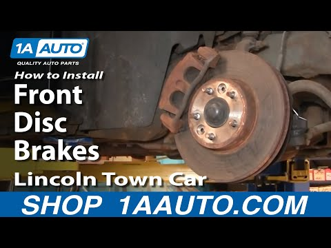 How To Install Repair Replace Front Disc Brakes on Lincoln Town Car 98-02 1AAuto.com