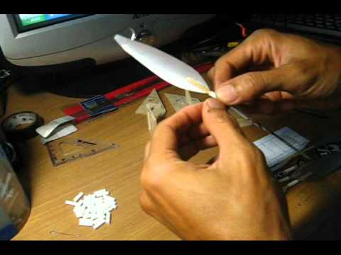How to make a propeller#3 การสร้า้งใบพัด