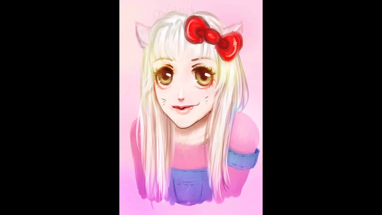 Hello Kitty Paintings Speed Painting Sai Hello Kitty