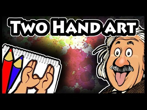 Albert Einstein Cartoon Drawing - Ambidextrous
