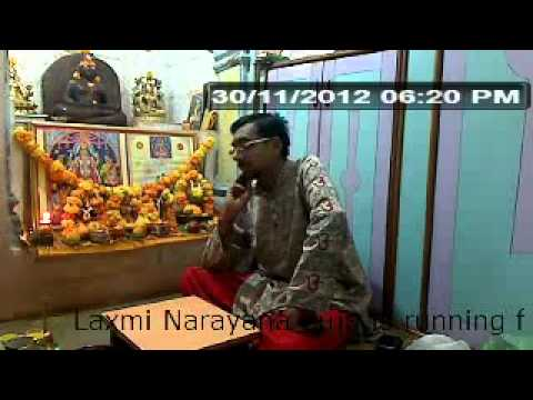 Laxmi Narayana Puja video