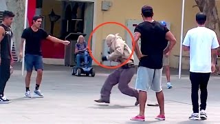 Old Man Dances In Public Prank!