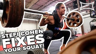 World Record Holder STEFI COHEN Fixes Your Squat! | @ Super Training Gym