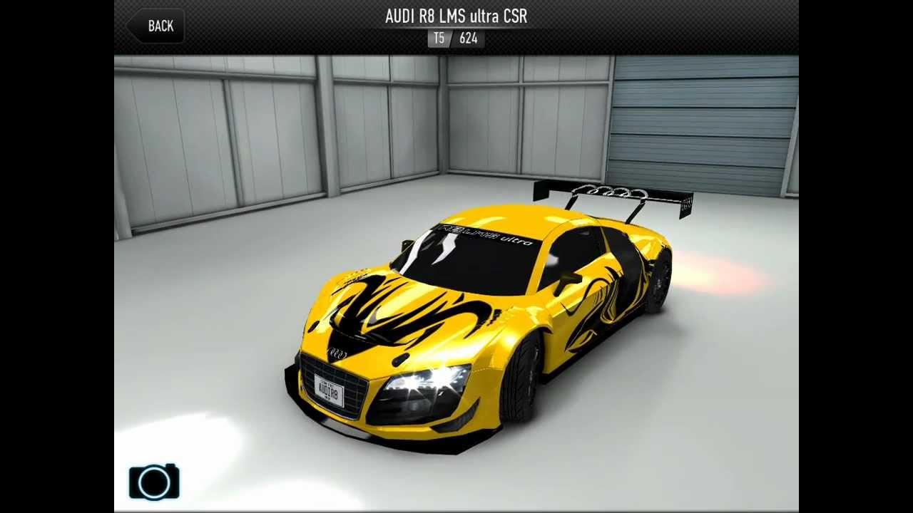 CSR Car Racing Audi R8 LMS Ultra CSR - YouTube