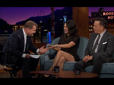 James Corden makes Mila Kunis admit she has married Ashton Kutcher on Late Late show premiere