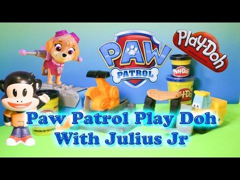 PAW PATROL Nickelodeon Paw Patrol & Julius Jr Play Doh Saw Mill Toy Video
